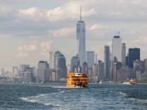 Staten Island Ferry in New York The Staten Island Ferry on its way to it s St George Terminal in Ne
