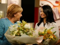 German Chancellor Merkel meets the German YouTuber Isik in Berlin