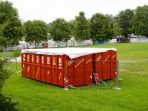 Volksfest Abwasser Container