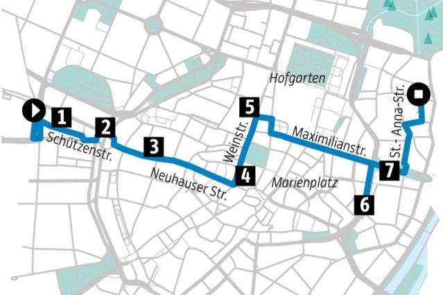 Architektur: Karte Innenstadt