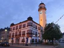 Rathaus Ludwigstrasse Hof an der Saale Oberfranken Bayern Deutschland Rathaus Hof an der Saale