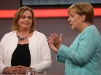 Angela Merkel bei RTL-Aufzeichnung ·Deutschland fragt nach·