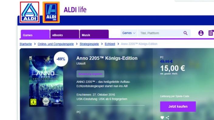 ALDI bietet mit ALDI life Games Videospiele an