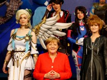 German Chancellor Angela Merkel opens the world's largest computer games fair Gamescom in Cologne