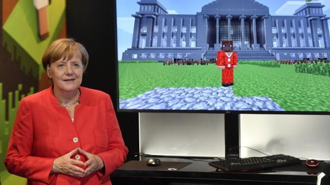 Angela Merkel eröffnet die Gamescom