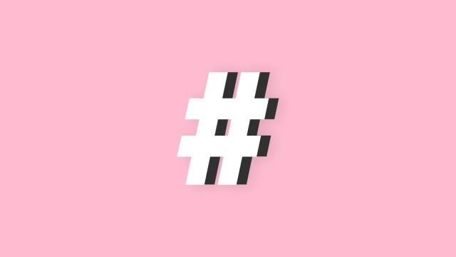 Soziale Netzwerke Hashtag