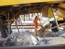 Gleisbauarbeiten in Planegg, 2016
