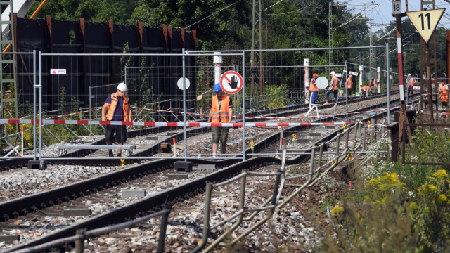 Baustelle Bahntunnel Rastatt