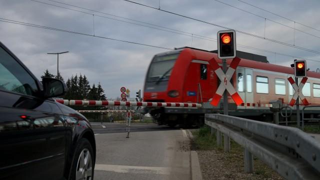 Bahnübergang bei München, 2016