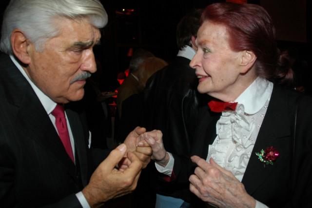 Mario Adorf und Margot Hielscher bei Empfang der Stadt München, 2005