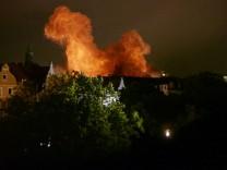 Explosion der Bombe in Schwabing