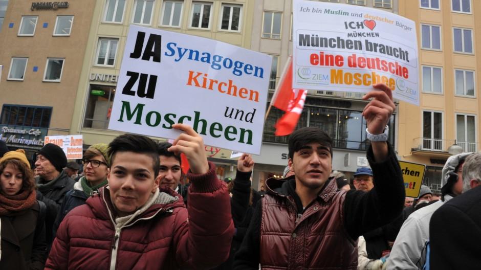 Demonstration gegen Rassismus in München, 2013