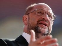 Germany's Social Democratic Party SPD candidate for chancellor Martin Schulz attends an election rally in Magdeburg