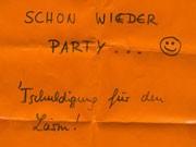 Party Zettel Lärm Studenten