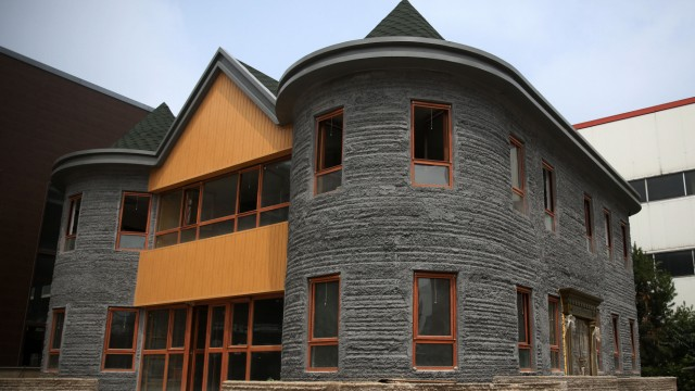 Two Storey House 3D Printed In 45 Days In Beijing