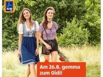 Aldi Werbung für Wiesn-Outfits
