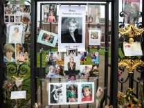 Tributes Gather At Kensington Palace In Celebration Of Princess Diana's Life
