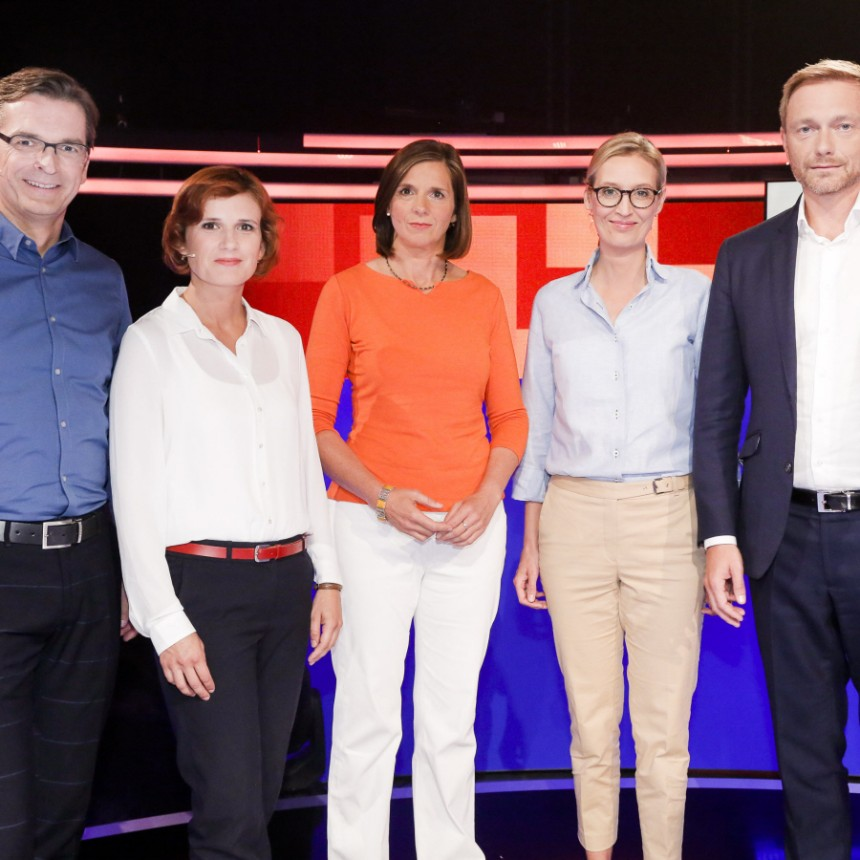 Die TV-Debatte zur Bundestagwahl bei Sat1 - Politik - Süddeutsche.de