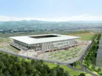 Siegerentwurf für das neue Freiburger Fußballstadion