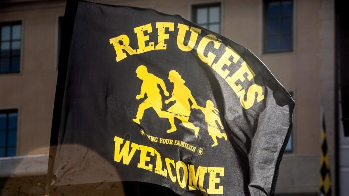 Demonstration gegen Flüchtlingspolitik der bayerischen Staatsregierung in München, 2015