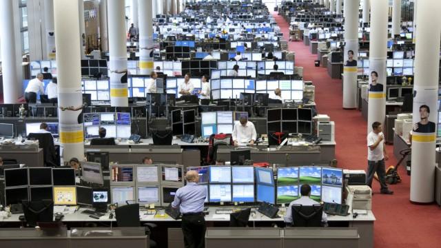 17 08 2009 Frankfurt DEU Handelssaal der Commerzbank
