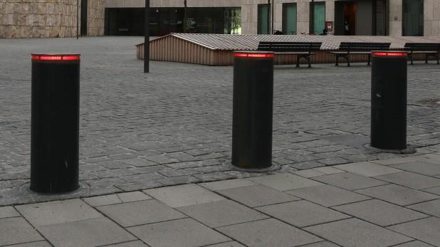 Poller schützen Jüdisches Gemeindezentrum in München, 2015