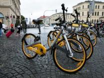 O-Bikes am Odeonsplatz