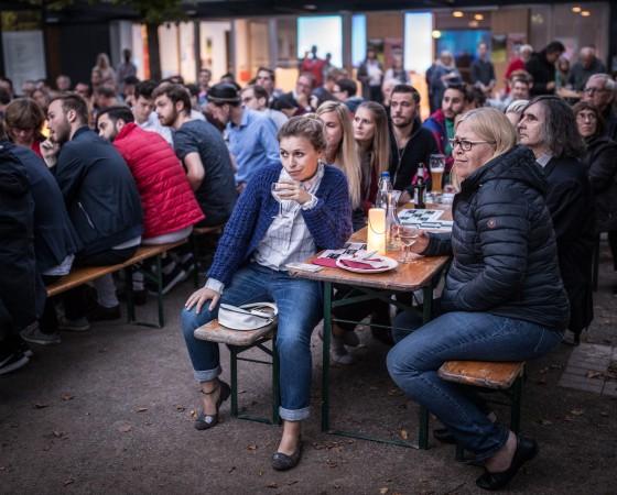 Merkel Vs. Schultz TV Debate: Public Viewings