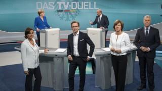 TV-Duell Angela Merkel und Martin Schulz