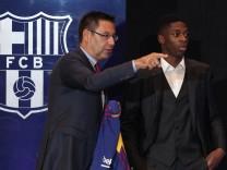 Soccer Football - FC Barcelona - Ousmane Dembele Presentation