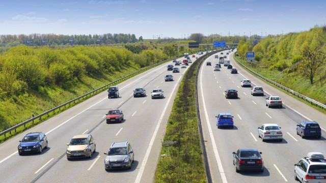 Autobahn A1 in Hamburg Deutschland Europa