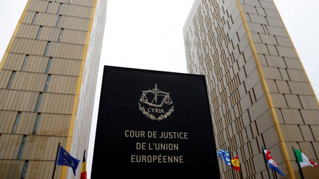 FILE PHOTO: The towers of the European Court of Justice are seen in Luxembourg