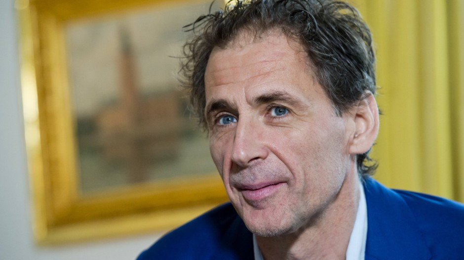 Press conference of Swedish author David Lagercrantz on launching of fourth volume of the late Stieg