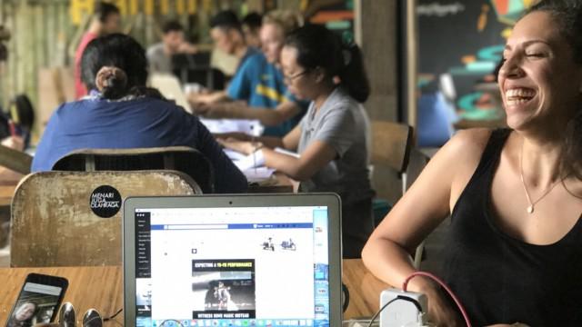 Büro im Reisfeld - Coworking auf Bali