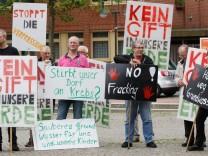 Kundgebung gegen Fracking