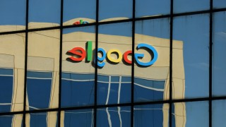 FILE PHOTO: Google logo on office building in Irvine, California