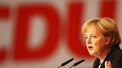 Kanzlerin Merkel bei CDU-Parteitag