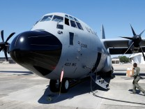 USAF 'Hurricane Hunter' plane seen for Irma flight preparation at Keesler Air Force Base in Biloxi
