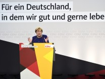 Merkel Campaigns In Delbruck