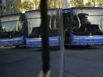 Warnstreik der Busfahrer in München, 2017