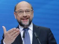 SPD-Pressekonferenz mit Martin Schulz