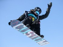 SNOWBOARD FREESTYLE FIS WC PyeongChang PYEONGCHANG SOUTH KOREA 14 FEB 17 SNOWBOARD FREESTYLE F; Snowboard