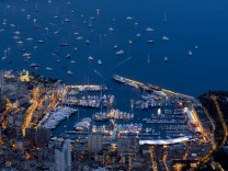 A general view shows Monaco Principality as the MonacoYacht show, one of the most prestigious pleasure boat show in the world, highlighting hundreds of yachts for the luxury yachting industry runs in Monte Carlo port
