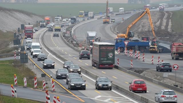 Autobahn-Baustelle A7 bei Bockenem