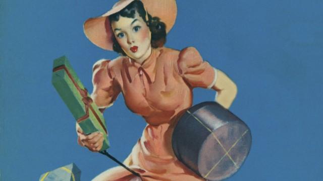 Help Wanted c 1940 A painting byÊthe famed pin up artist Gil Elvgren PUBLICATIONxINxGERxSUIxAU