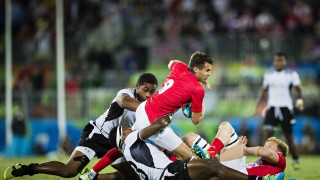 Rio de Janeiro Deodoro Stadium 11 08 2016 Olympia Fiji Großbritannien Finale 7er Rugby mm