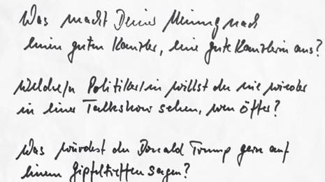 Bundestagswahl Spitzenkandidaten fragen, Erstwähler antworten