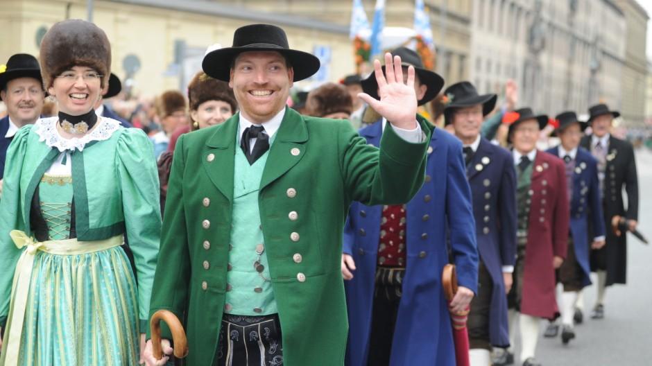 Trachten- und Schützenumzug zum Münchner Oktoberfest, 2015