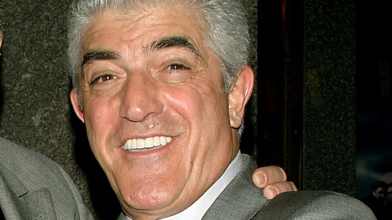 FILE PHOTO -  Actor Frank Vincent points at photographers upon arrival at fifth season premiere of the HBO series 'The Sopranos,' in New York