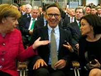 German Chancellor Merkel, Wissmann and Sandberg attend the opening of the Frankfurt Motor Show